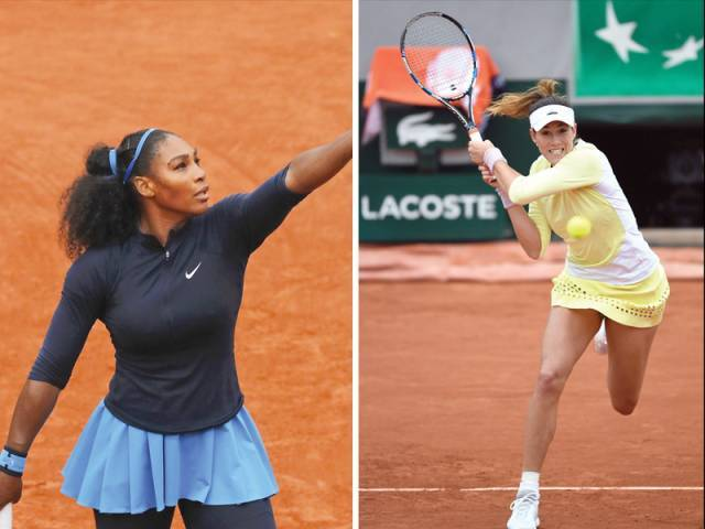 Serena Williams outlasted gritty Dutchwoman Kiki Bertens to reach the final, where she will play Spaniard Garbine Muguruza with her 22nd grand slam singles title at stake. PHOTOS: AFP/REUTERS