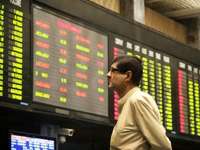 Benchmark KSE-100 index surges over 2% on Wednesday. PHOTO: ONLINE