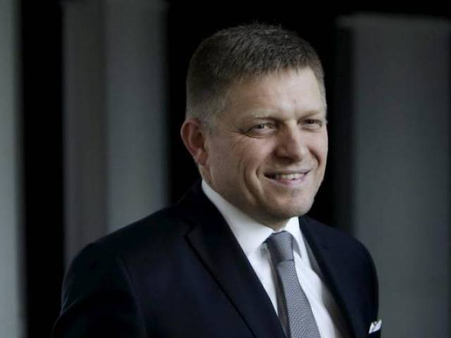 Slovakia's Prime Minister and leader of Smer party Robert Fico. PHOTO: REUTERS
