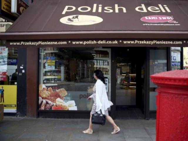 A Polish delicatessen is seen in Hammersmith, west London, Britain June 27, 2016. PHOTO: REUTERS