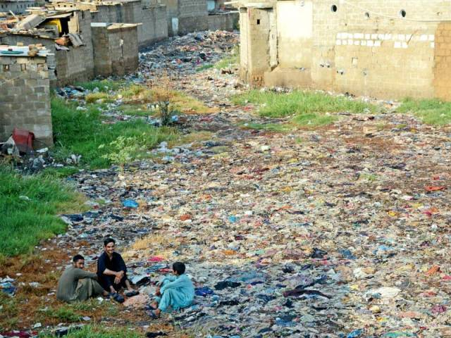 The LG minister said de-silting work on 26 of 30 nullahs would start after Eid and continue till the drains are completely cleared of garbage and silt. PHOTO: RASHID AJMERI/EXPRESS