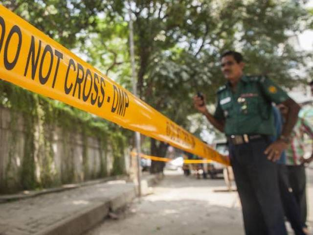 Shaymanonda Das, 45, was hacked to death in front of a temple in Jhinaidah district headquarter, 300 kms (188 miles) south west from the capital Dhaka. PHOTO: REUTERS