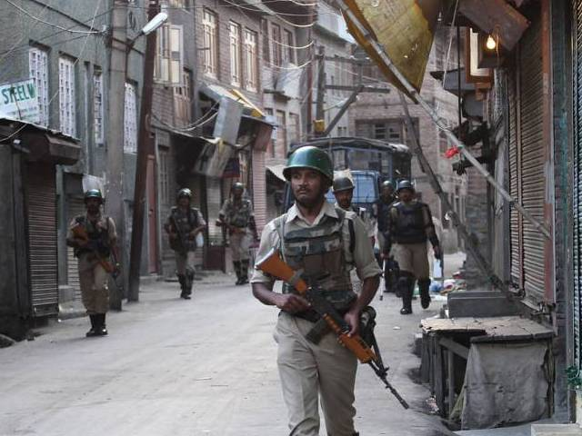 "If India's 'occupation' troops continue ""with the genocide of Kashmiris then along with armed struggle we will also start a civil disobedience movement in occupied Kashmir,"" Salahuddin said, amid calls for jihad. PHOTO: INP"