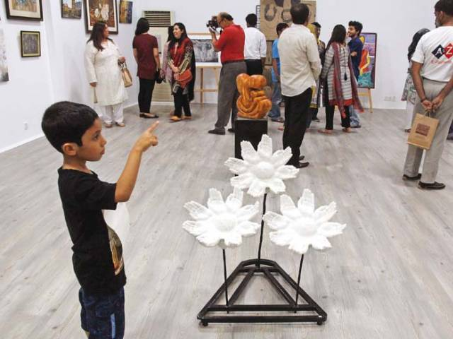 The exhibition seeks to promote the works of young artists and give them a chance to showcase their talent while still studying. PHOTOS: ATHAR KHAN/EXPRESS