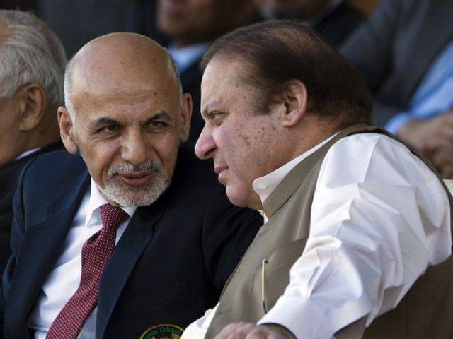 Afghan President Ashraf Ghani with Prime Minister Nawaz Sharif. PHOTO: FILE