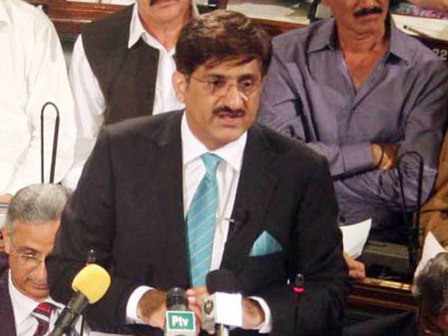 Murad Ali Shah (C). PHOTO: PPI