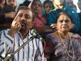 Farooq Sattar along with other MQM leaders addresses a press conference in Karachi on Tuesday. PHOTO: INP