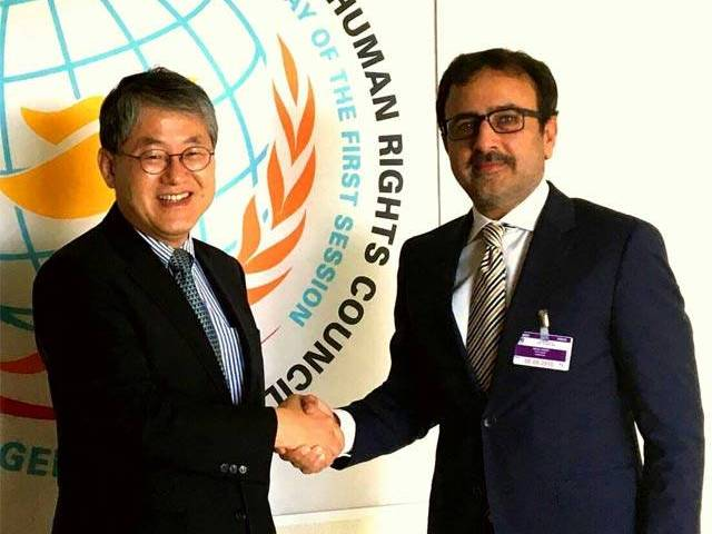 Leghari urges UN Security Council to implement resolutions that recognise Kashmir as a disputed territory. PHOTO: MINISTRY OF FOREIGN AFFAIRS