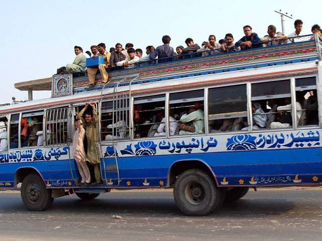 """The AJK Transport Authority has no working culture and everyone working in the department is getting salary and other perks without doing any work,"" the official claimed. PHOTO: APP"