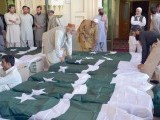 Bodies of martyrs of Police Training College attack being sent to their hometowns. PHOTO: INP