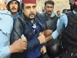 Express News screengrab of Salman Ahmed being arrested