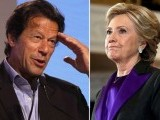 Imran Khan (L) and Hillary Clinton (R). PHOTO: REUTERS