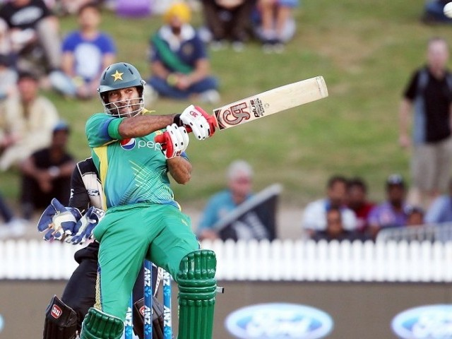Sohaib was unbeaten on 222 as match ended in a draw. PHOTO: AFP