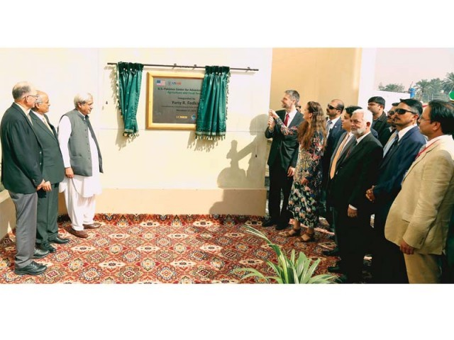 US consul general inaugurates the newly constructed centre at the UAF. PHOTO: EXPRESS