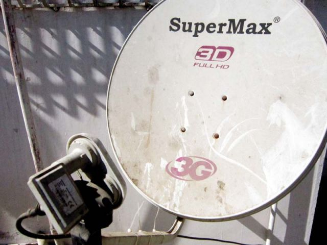 Pakistani dealers, working on behalf of Indian DTH companies, are smuggling DTH dish and set-top box from Dubai. PHOTO: ATHAR KHAN/EXPRESS