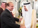 Prime Minister Nawaz Sharif meets Saudi king Salman bin Abdul Aziz. PHOTO COURTESY: SPA