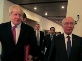 British Foreign Secretary Boris Johnson (L) walks with the Adviser to Pakistan's Prime Minister on National Security and Foreign Affairs, Sartaj Aziz after their joint news conference at the Foreign Ministry in Islamabad, Pakistan, November 24, 2016. PHOTO: REUTERS