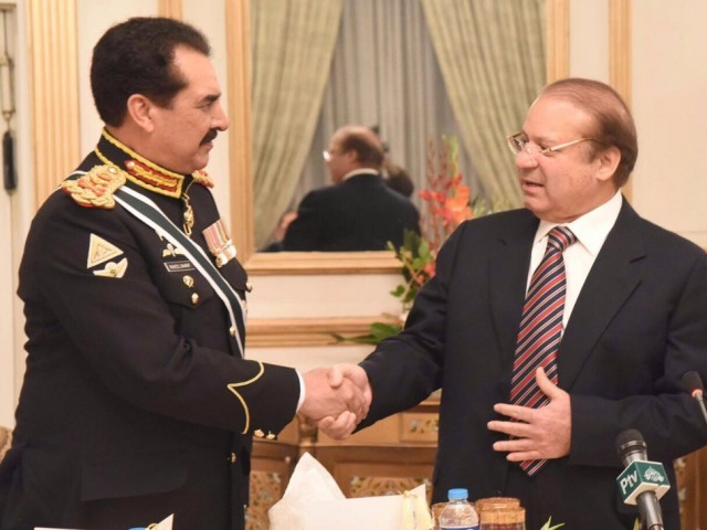 PM Nawaz hosted farewell dinner at PM House on November 24, 2016. PHOTO: PID