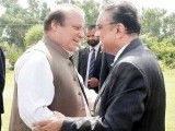 A file photo of PM Nawaz Sharif and former president Asif Zardari. PHOTO: ONLINE