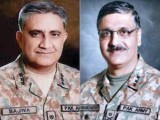 Gen Qamar Javed Bajwa, Gen Zubair Mahmood Hayat. PHOTO: FILE
