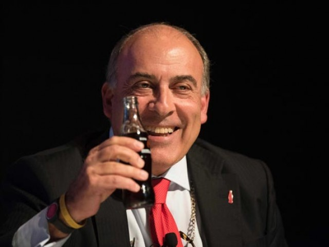 This file photo taken on September 13, 2016 shows Coca Cola Company Chairman and CEO Muhtar Kent  during the Argentina Business and Investment Forum in Buenos Aires, Argentina. PHOTO: AFP
