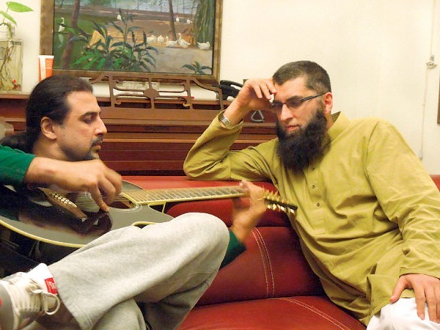 Junaid Jamshed and Salman Ahmad will jam together in Karachi. PHOTO: IMRAN AHMAD
