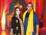 Maheen and Shahbaz Taseer: DHOL BAAJAY, Mahvish Malik and Haider Abbas celebrate their upcoming wedding with a dholki in Lahore