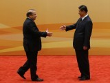 Prime Minister Nawaz Sharif meets Chinese President Xi Jinping. PHOTO: REUTERS