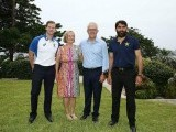 Misbah and Smith with Aussie PM and his wife. PHOTO COURTESY: TWITTER