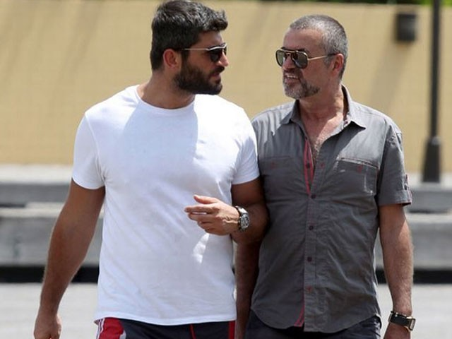 George Micheal and Fadi Fawaz. PHOTO: MIRROR.CO