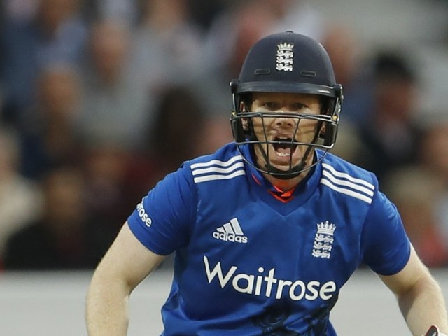Eoin Morgan smashed a last-ball six in BBL