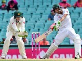 Pakistan trail Australia by 267 runs with Younus unbeaten on 136. PHOTO: AFP