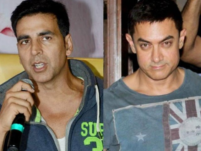Bollywood actors Akshay Kumar and Aamir Khan. PHOTO: INDIA TV