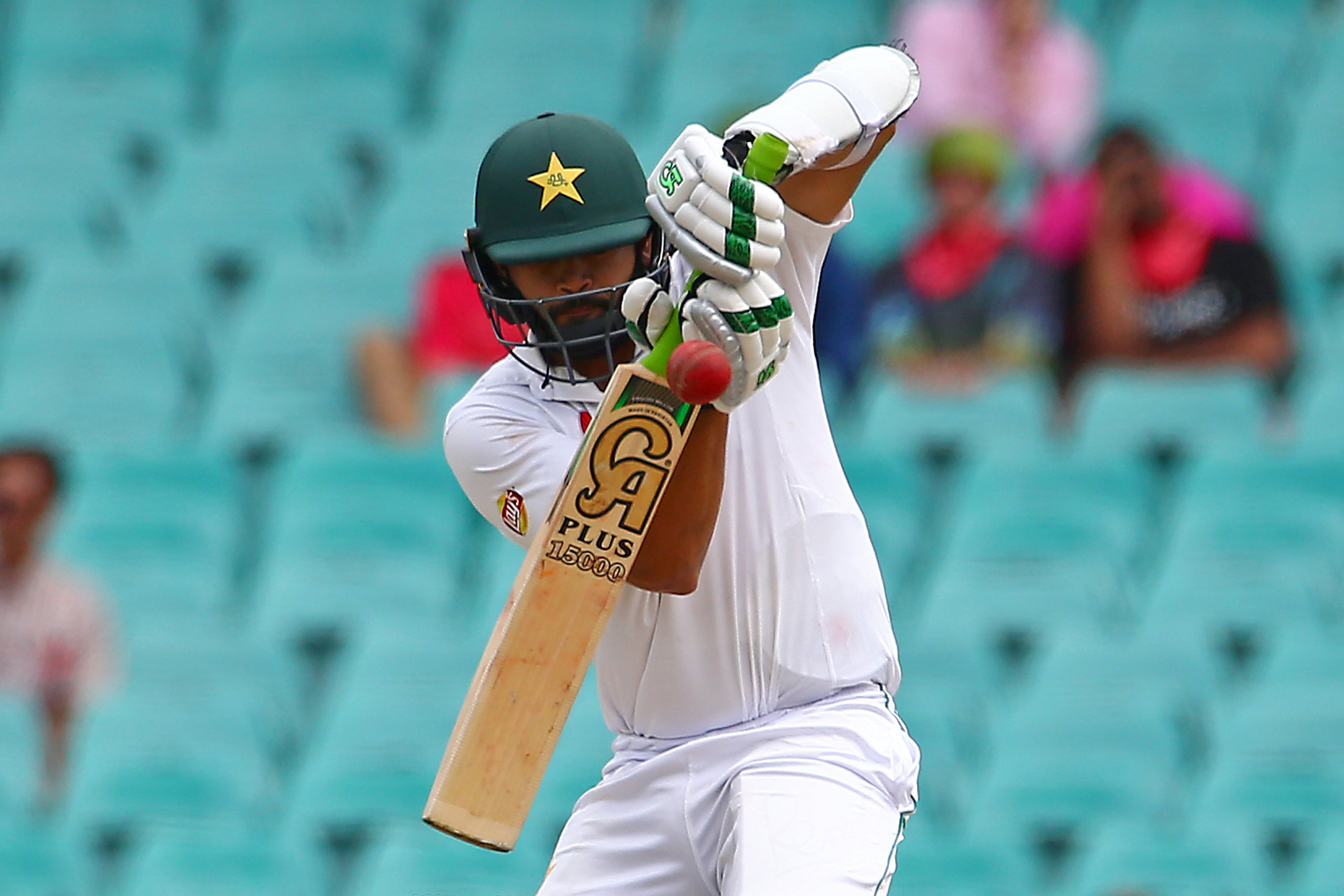 Azhar Ali remained unbeaten on 11 alongside Yasir Shah. PHOTO: REUTERS