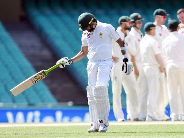 Pakistan lost four points after the series sweep by Australia. PHOTO: AFP