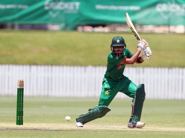 Babar Azam scored 98 for Pakistanis in Brisbane against Cricket Australia XI. PHOTO: COURTESY: Cricket Australia/Getty Images