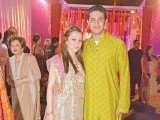 Suggy Hasan with her husband: #RIZJID THE NIGHT AWAY, Amna Rizvi and Hasan Vajid celebrate their mehndi in Karachi