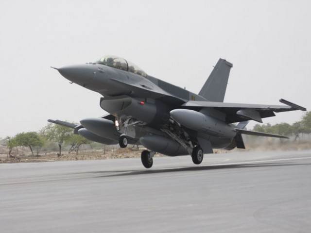 File photo of a F-16 jet. PHOTO: PAF