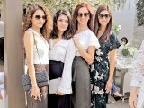 Tooba Siddiqui, Sanam, Mulghular Hasan and Sunita Marshall: 45 CANDLES, Saba Ansari celebrates her 45th birthday at Café Alyanto in Karachi