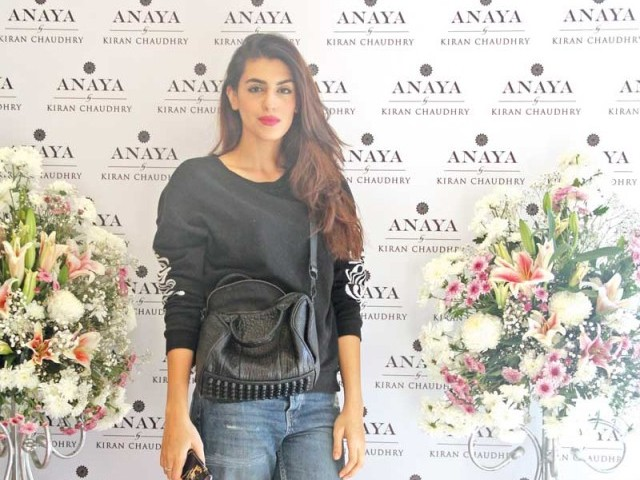 Anusheh Shahid: PASTELS AND FLOWERS, Kiran Chaudhry exhibits the latest collection of her brand, 'Anaya', at Labels in Karachi