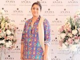Sadia: PASTELS AND FLOWERS, Kiran Chaudhry exhibits the latest collection of her brand, 'Anaya', at Labels in Karachi