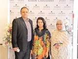 Syed Rashid Ali with his family: PASTELS AND FLOWERS, Kiran Chaudhry exhibits the latest collection of her brand, 'Anaya', at Labels in Karachi