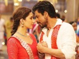 Mahira Khan and Shah Rukh Khan in a scene in Raees. SCREENGRAB