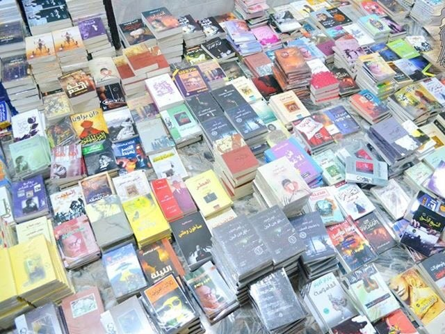 Security official said confiscated books contained information on Shiaism and Christianity as well as erotic material. PHOTO: TWITTER @GhaithShennib