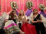 Members of the transgender community attend Shakeela's party in Peshawar, Pakistan January 22, 2017. PHOTO: REUTERS