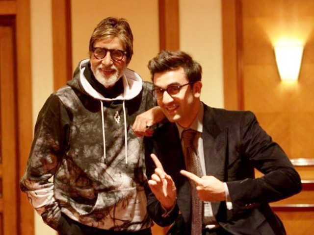 Amitabh Bachchan and Ranbir Kapoor. PHOTO: PINKVILLA