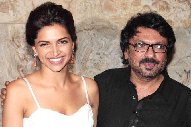 Sanjay Leela Bhansali with Deepika Padukone. PHOTO: FILE