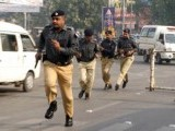 A file photo of Punjab police personnel. PHOTO: AFP/FILE