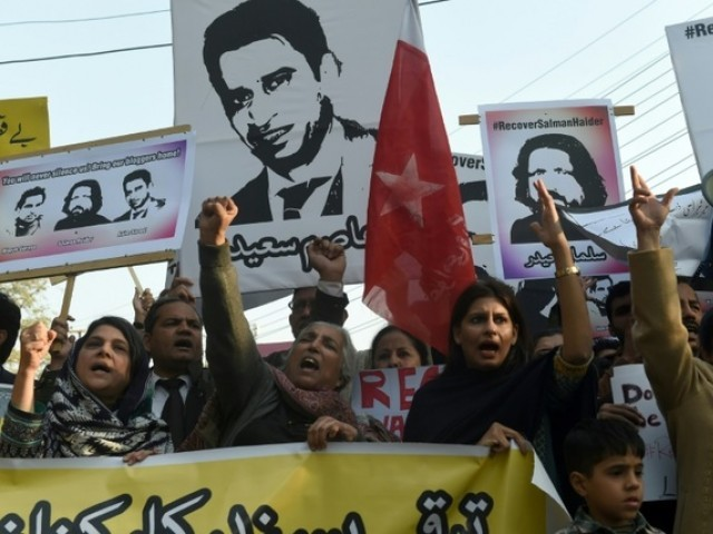Asim was among activists five who went missing more than two weeks ago. PHOTO: AFP