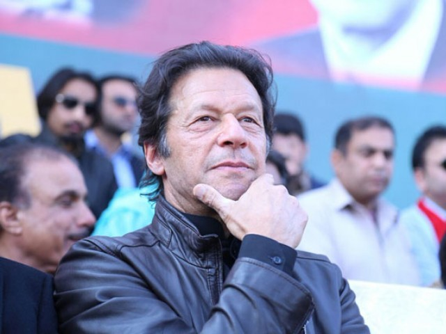 Pakistan Tehreek-e-Insaf chairman Imran Khan attends party rally in Sahiwal on Sunday, January 29, 2017. PHOTO: PTI